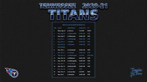 tennessee titans wallpaper schedule