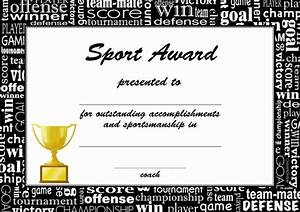 Sport Certificate Templates Award Certificates For Sports Certificate Templates