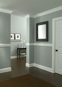 Protect walls from scuffs and dents by installing chair for Wall paint ideas with chair rail