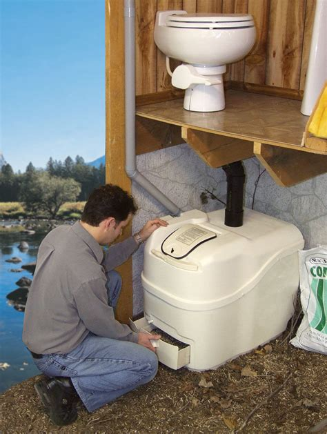 sun mar composting toilet central flush system odor
