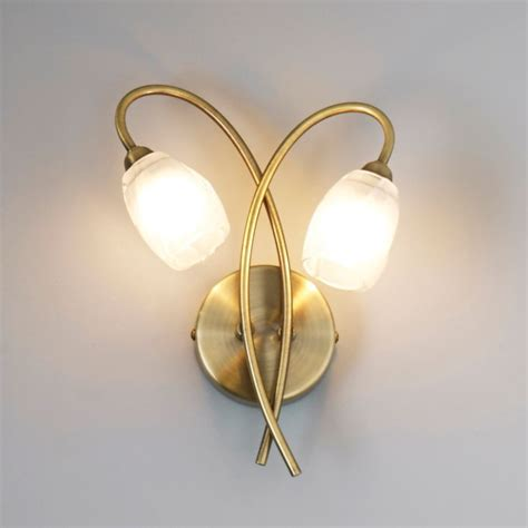 forbes clear brass effect wall light departments