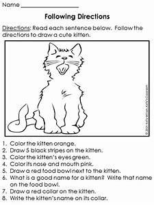 Following Directions  Free Following Directions Worksheet