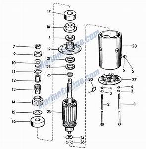 Evinrude Lark Starter Motor Parts For 1960 40hp 35520