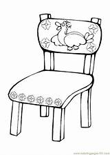 Coloring Table Popular Chair sketch template