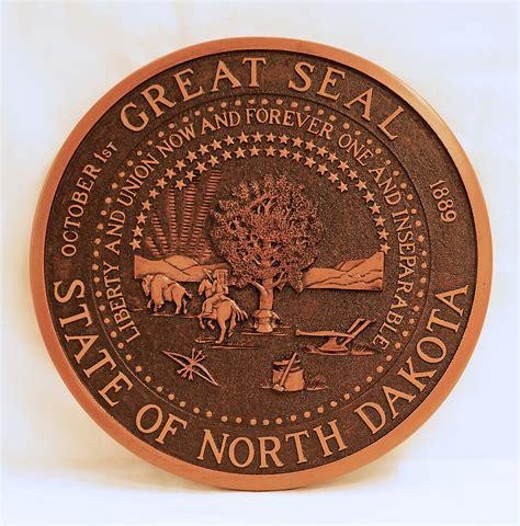 state seal  north dakota wall plaque north dakota