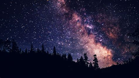 Night Sky Dark Space Milkyway Star Nature Papers