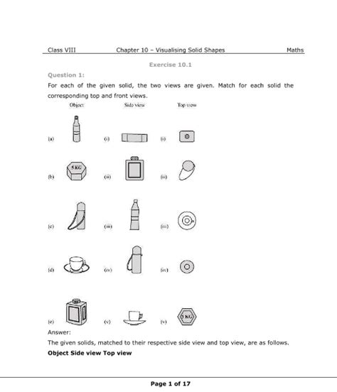 ncert solutions for class 8 maths chapter 10 visualising