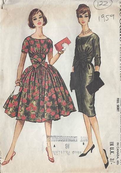 Patterns Sewing Pattern 1959 Mccalls Dresses B36