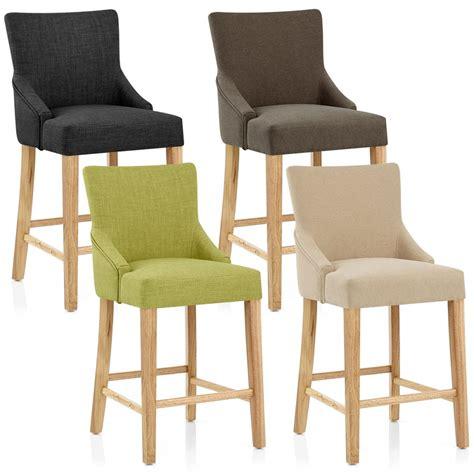 chaise de bar avec accoudoir chaise de bar bois tissu magna monde du tabouret