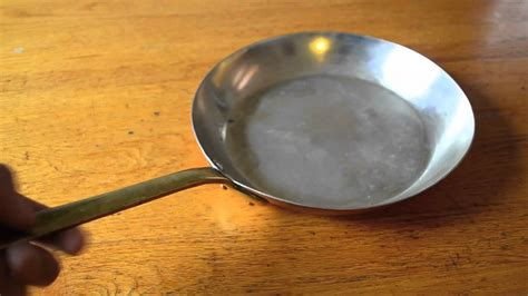 vintage french copper cookware bazar francais   york tin lined saute pan youtube