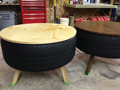 recycled tire coffee table tire table tired and plywood