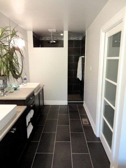 Black Bathroom Floor Tiles by My Master Bathroom Modern Budget Friendly Home Decor