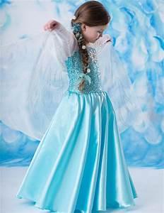 Disney Movie Frozen Cosplay Elsa Kids Dress Costumes