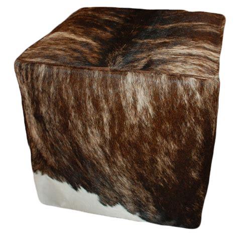 Cowhide Cube Ottoman - cowhide cube ottoman