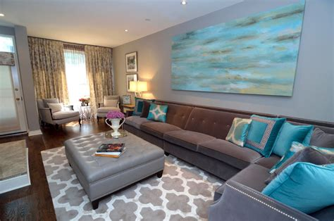 Brown And Aqua Living Room Ideas turquoise living room transitional living room other