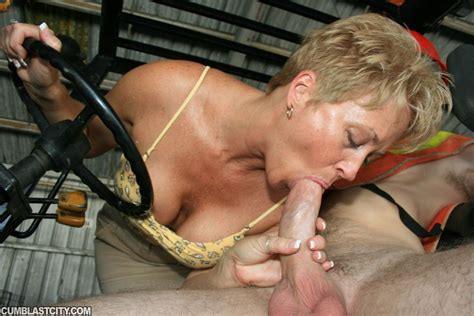Short Haired Mature Secretary Sucking And Jerking Off A