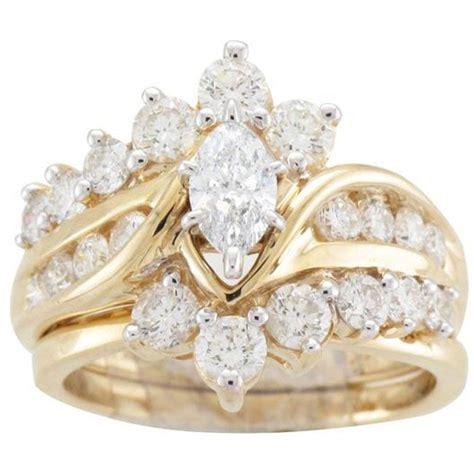 yellow gold ct tdw diamond bridal ring set