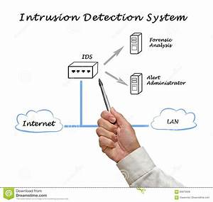 Diagram Of Intrusion Detection System Stock Photo