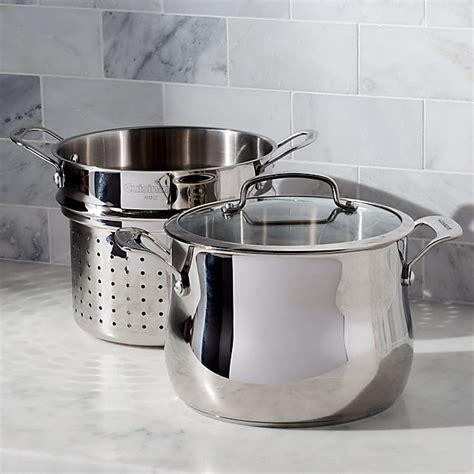 pasta strainer pot cuisinart qt pc crate barrel crateandbarrel