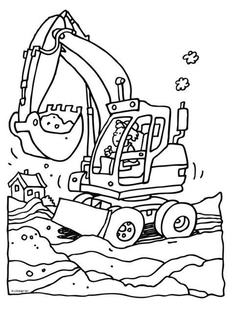 Kleurplaten Vrachtwagen Met Kraan by Kleurplaat Graafmachine Het Wielenboek Voor Stoere