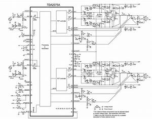 Schematic Diagram  2 X 200w Stereo Class T Digital Audio Amplifier Tda2075a