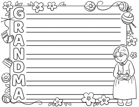 grandma acrostic poem template  printable papercraft