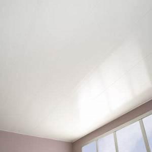 Lambris Pvc Pour Plafond : lambris en pvc blanc mat long 4 m castorama ~ Dailycaller-alerts.com Idées de Décoration