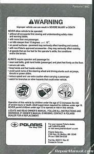 2009 Polaris Ranger Rzr 170 Owners Manual