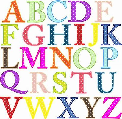 Alphabet Printable Clipart Fonts Banner Colorful Uppercase