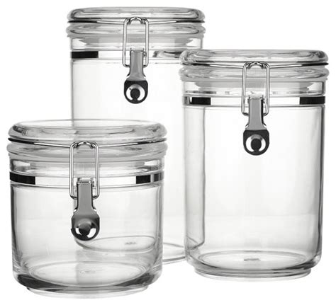 John Lewis Acrylic Storage Canisters, Clear  Contemporary