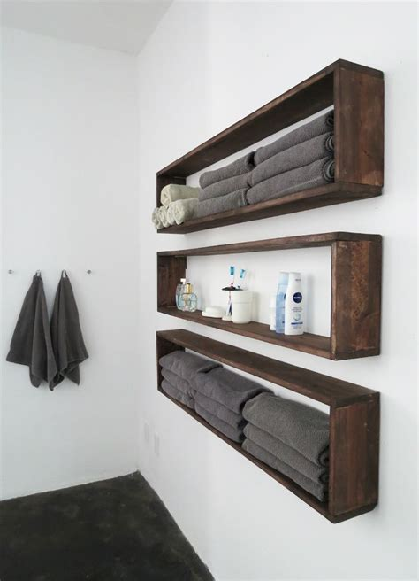 Hanging Drawers On Wall by Diy Wall Shelves In The Bathroom Tutorial Diy Storage