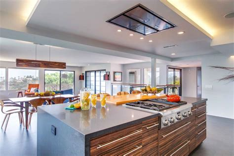 jackson design and remodeling modern kitchen features colorful mosaic accent wall