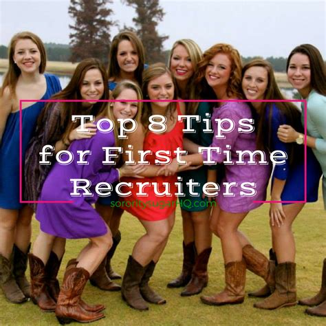 Aug 9 Top 8 Tips For First Time Recruiters Sorority