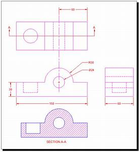 Section Views tutorial in AutoCAD with video