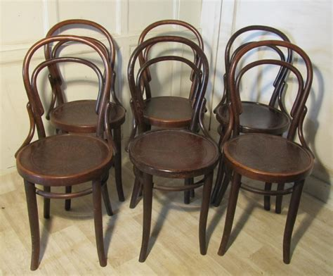 set of 6 thonet bistro bentwood chairs 246404