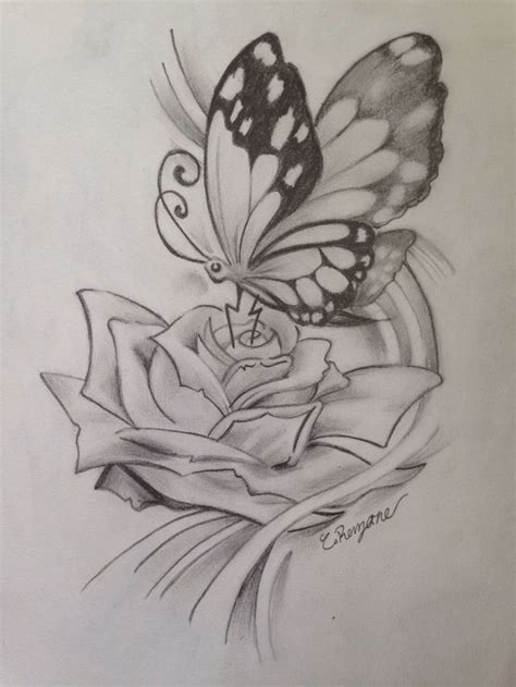 butterfly rose cool drawings jellyfish drawing color