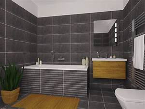 Salle de bain avec douche et baignoire 2 lapeyre for Porte de douche coulissante avec lapeyre salle de bain carrelage