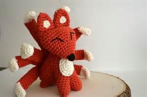 9 Tailed Fox Plush Kitsune Gumiho Amigurumi Crochet
