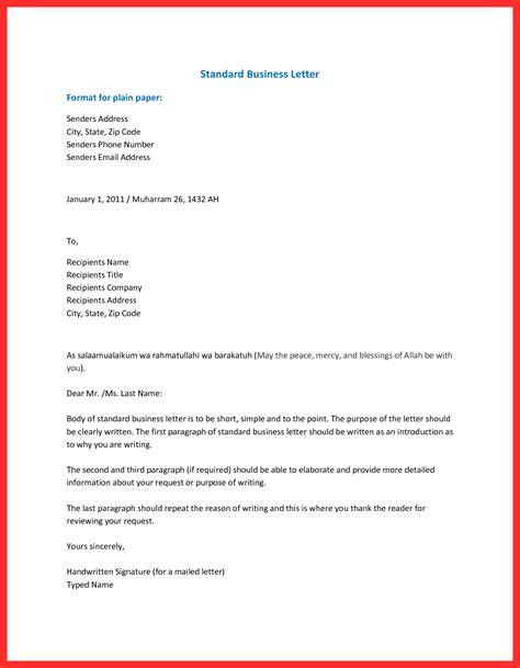 Letter Setup by Business Letter Setup Resume Format
