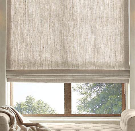 Curtain Shades by Textured Belgian Linen Shades Restoration Hardware