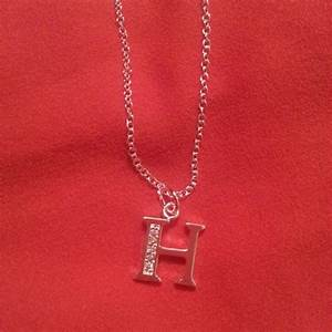 74 off jewelry sterling silver letter h necklace from With letter h necklace