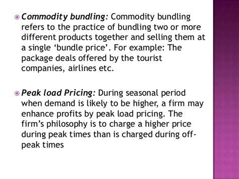 commodity bundling pricing methods