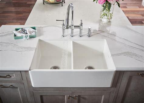 undermount fireclay kitchen sink elkay fireclay kitchen sinks in white apron farm 6583