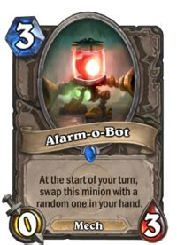 Alarm O Bot Deck 2017 11 cost card general discussion hearthstone general