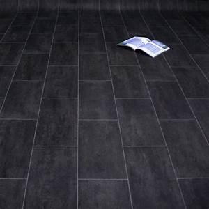 Pvc Boden Schwarz : pvc bodenbelag fliese schwarz melbourne noir m u s t e r fliese stein pvc cv bel ge ~ Frokenaadalensverden.com Haus und Dekorationen