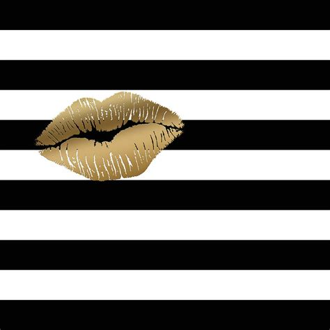 Metallic Gold Lips Black And White Stripes Painting By. Bed Benches. Bk Lighting. White Marble Top Coffee Table. Tie Storage. Bay Window Bench For Sale. Corner Etagere. Pasta Arm. Savvy Homes