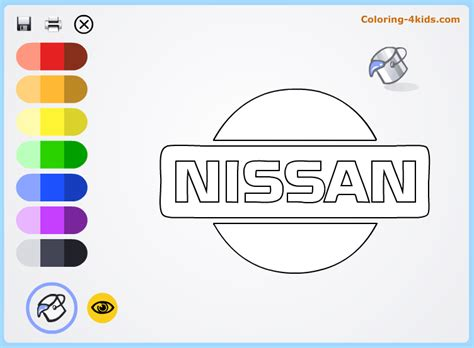 Nissan Logo Coloring Pages Online (cars Logos Coloring
