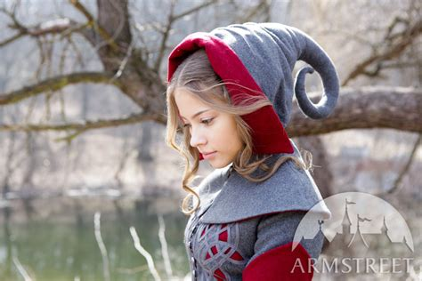 exclusive red riding hood medieval fantasy headwear