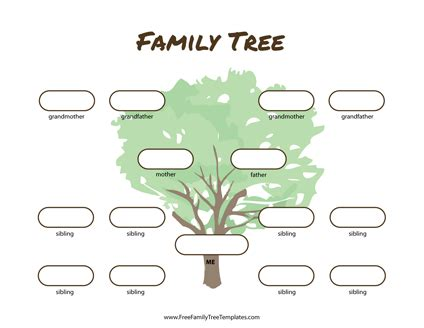3 Generation Family Tree Template Word