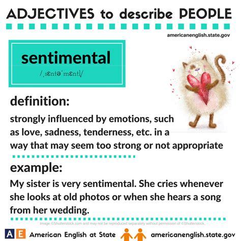 adjectives  describe people sentimental  images